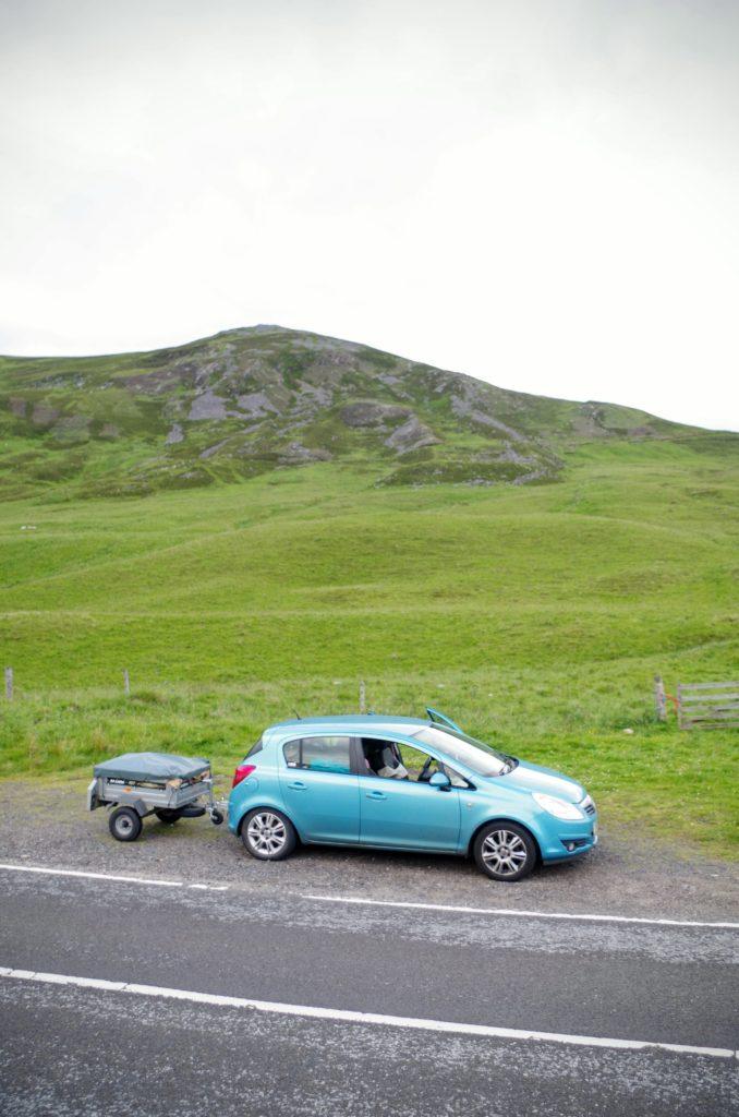 Little car, little triler, BIG hills!