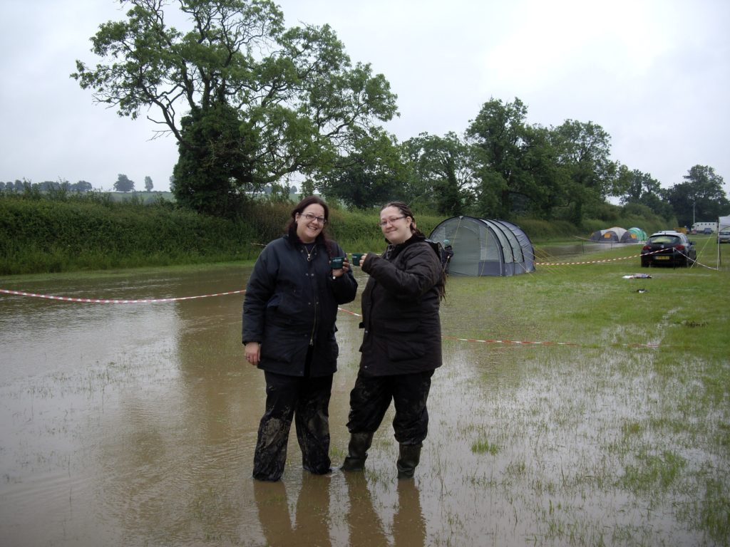 Niki and Fee at Kelmarsh in the rain