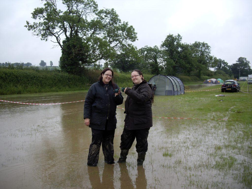 Niki and Fee at Kelmarsh in the rain