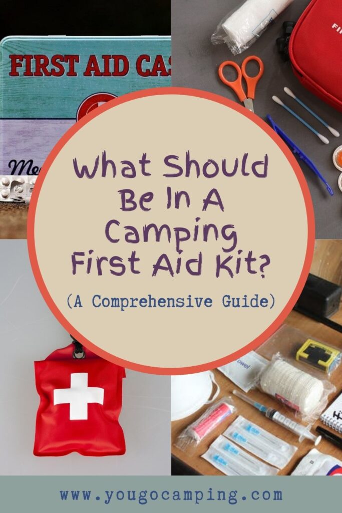 what should be in your camping first aid kit pinterest image