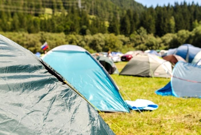 tents with groundsheets and footprints